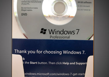 China 32 Bit / 64 Bit Windows 7 Professional Retail Box CD 100% Activation factory
