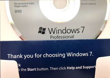 China Microsoft Certified Windows 7 Professional Retail Box 100% Permanent Activation factory