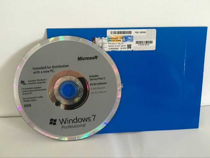 32 Bit / 64 Bit Windows 7 Professional Retail Box CD 100% Activation